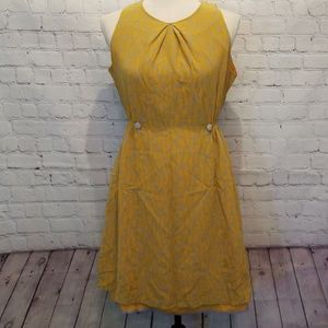 Anthropologie Girls From Savoy Yellow Dress